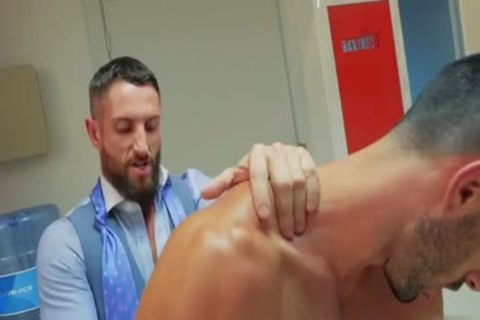 Muscle homosexual butthole-copulation With sperm flow