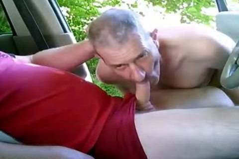 lewd homosexual guys On Car Have Some Public And Outdoor Sex